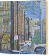 San Francisco Commute Wood Print