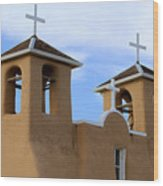 San Francisco De Asis Mission Bell Towers Wood Print