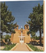 San Francisco De Assisi Mission Church Taos New Mexico 2 Wood Print