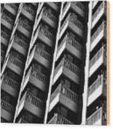 San Francisco  Financial District Wood Print