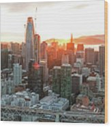 San Francisco Financial District Skyline Wood Print