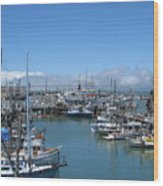 San Francisco Fishing Fleet Wood Print