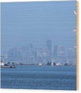 San Francisco From Alameda Wood Print