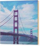 San Francisco Golden Gate Bridge Wood Print