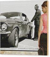 San Francisco Museum Of Art, Frank Bullitt, Steve Mcqueen, Ford Mustang Gt 390, Fastback Wood Print