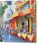 San Francisco North Beach Outdoor Dining Wood Print