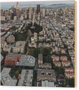 San Francisco Skyline And Coit Towersan Francisco Skyline And Coit Tower Wood Print