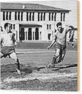 San Francisco Soccer Match Wood Print