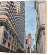 San Francisco Street View - Parc 55  Wood Print