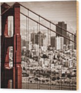 San Francisco Through The Bridge Wood Print by Matt  Trimble
