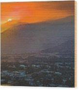 San Gabriel Complex Fire Wood Print