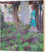 San Gabriel Mission California - Virgin Mary Wood Print