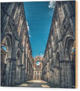 San Galgano Church Ruins In Siena - Tuscany - Italy Wood Print