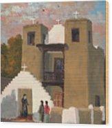 San Geronimo De Taos Spanish Mission Wood Print
