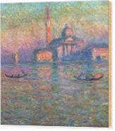 San Giorgio Maggiore Venice Wood Print by Claude Monet