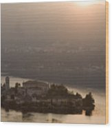 San Giulio Island Wood Print