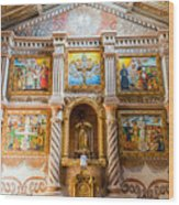 San Javier Church Altar Wood Print