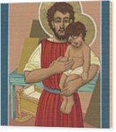 Retablo De San Jose Obrero 301 Wood Print