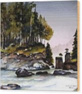 San Josef Bay Wood Print