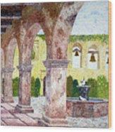 San Juan Capistrano Courtyard Wood Print