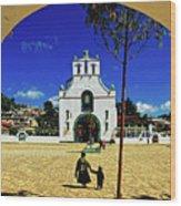 San Juan Chamula Church In Chiapas, Mexico Wood Print
