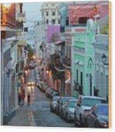 San Juan Evening Glow Wood Print