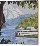 San Juan Ferry Wood Print