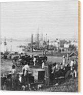 San Juan Harbor - Puerto Rico - C 1900 Wood Print