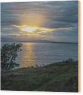 San Juan Island Sunset Wood Print