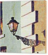 San Juan Street Lamp Wood Print