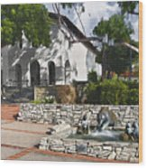 San Luis Mission Fountain Wood Print