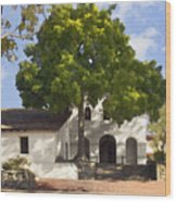 San Luis Mission Wood Print