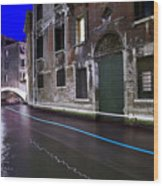 San Marco By Nightt Wood Print