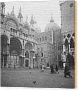 San Marco Piazza And Basilica In Venice Wood Print