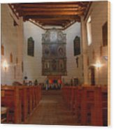 San Miguel Mission Church Wood Print