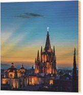 San Miguel Sunset Wood Print
