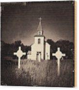San Patricio Church IIi Sepia Wood Print