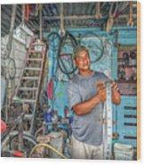 San Pedro Bike Repair Wood Print