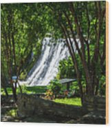 San Saba Waterfall Wood Print