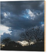 San Salvador Sunset 4 Wood Print