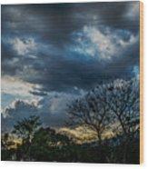 San Salvador Sunset 5 Wood Print