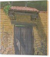 San Sebastian Garden Door Wood Print