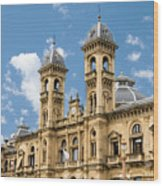 City Hall - San Sebastian - Spain Wood Print