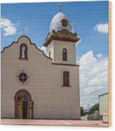 San Ysleta Mission Wood Print