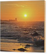 Sancti Petri Castle At Sunset San Fernando Cadiz Spain  Wood Print
