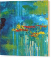 Sanctuary Abstract Painting Wood Print