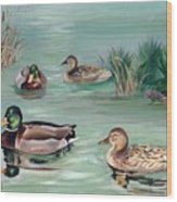 Sanctuary For Ducks Wood Print