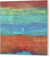 Sand And Sea I Wood Print