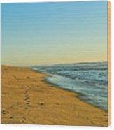 Sand And Sea Wood Print