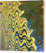 Sand At The Beach Abstract Wood Print